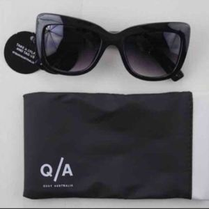 Black Cat Eye Sunglasses Quay Australia-Firm Price